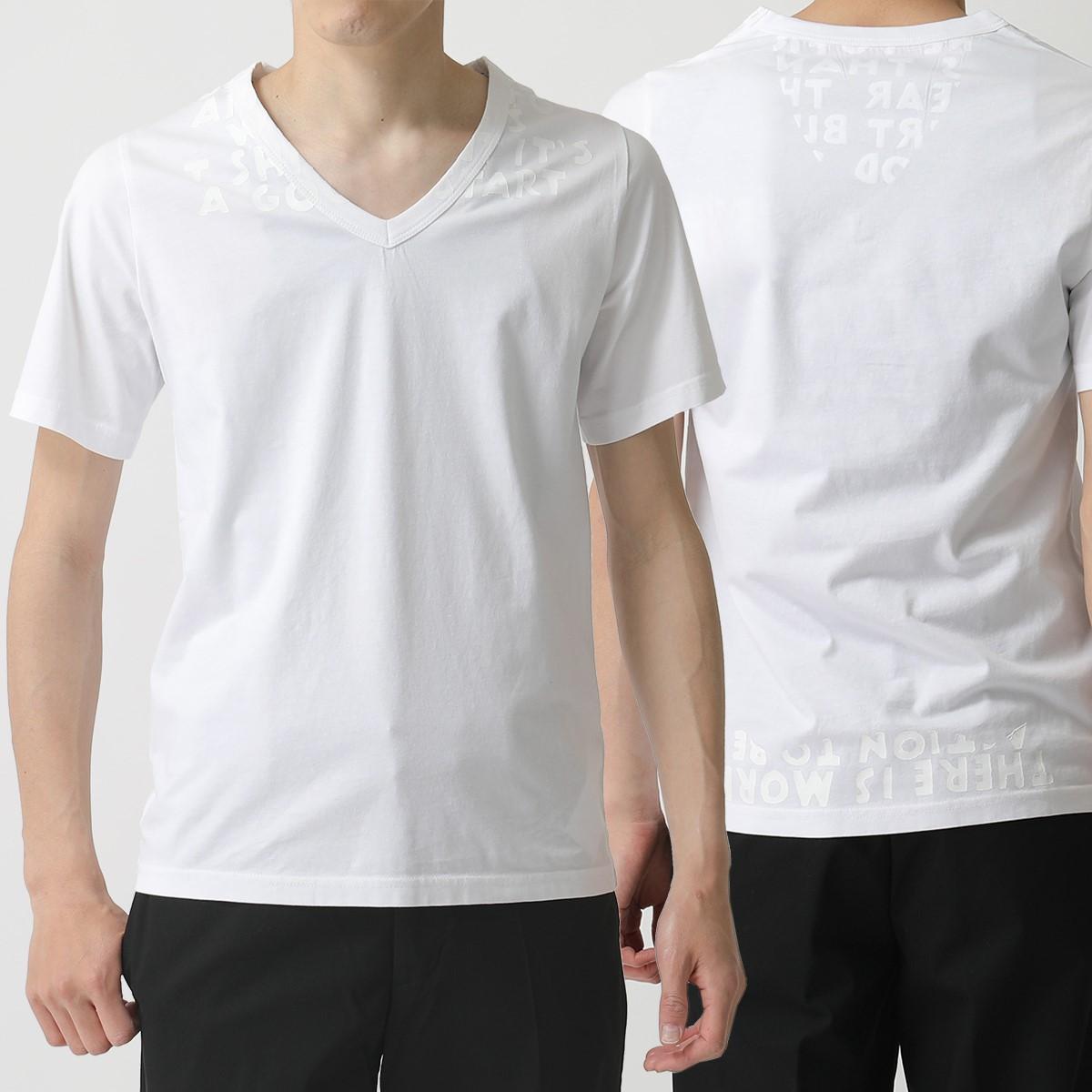MAISON MARGIELA メゾンマルジェラ S30GJ0007 S20299 AIDS Charity エイズT チャリティ Vネック 半袖 Tシャツ カットソー 971 メンズ