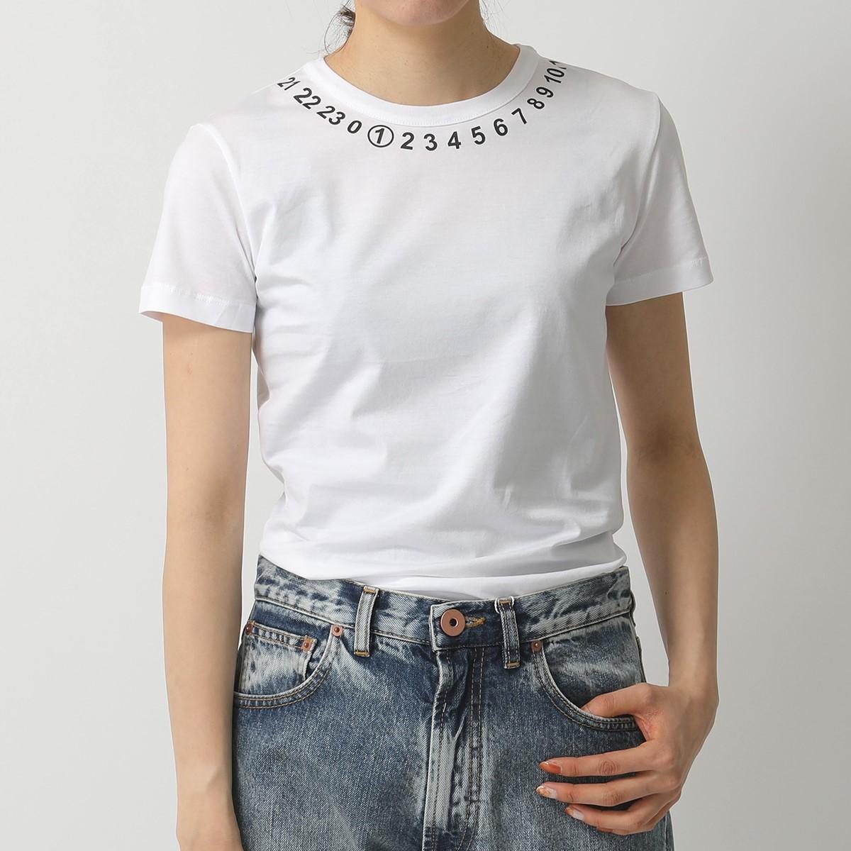 MAISON MARGIELA メゾンマルジェラ S51GC0434 S22816 エンベリッシュド 半袖Tシャツ カットソー 100 レディース