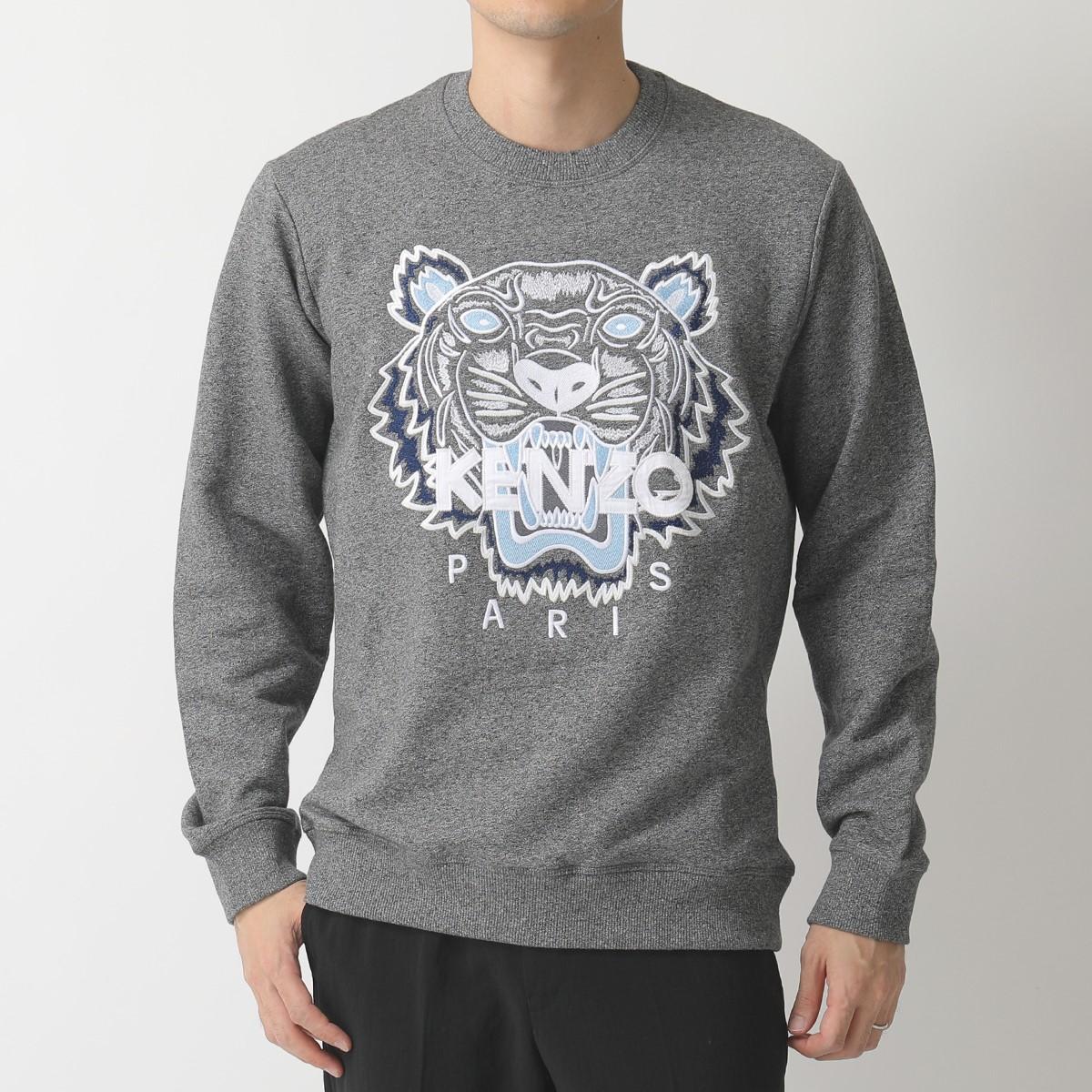 KENZO ケンゾー 5SW001 4XA CLASSIC TIGER SWEATSHIRT タイガー ロゴ 刺繍 クルーネック スウェット 98/グレー メンズ