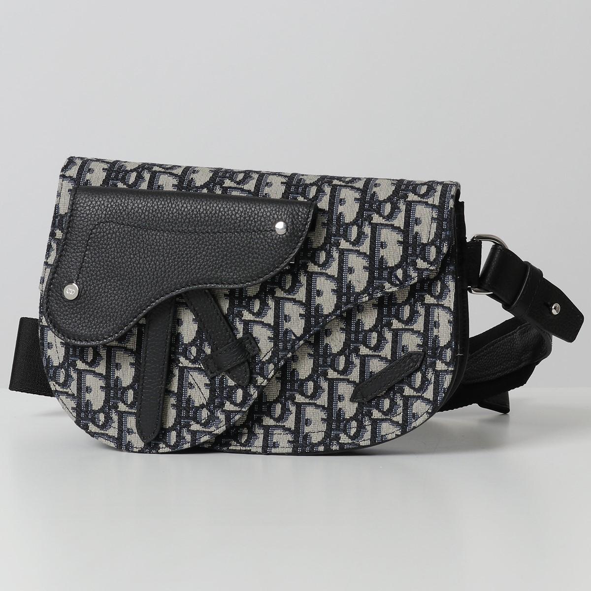 DIOR HOMME ディオールオム 1ADPO095YKY SADDLE POUCH オブリーク サドルバッグ ベルトバッグ ボディバッグ 28E/MULTICOLORE 鞄 メンズ