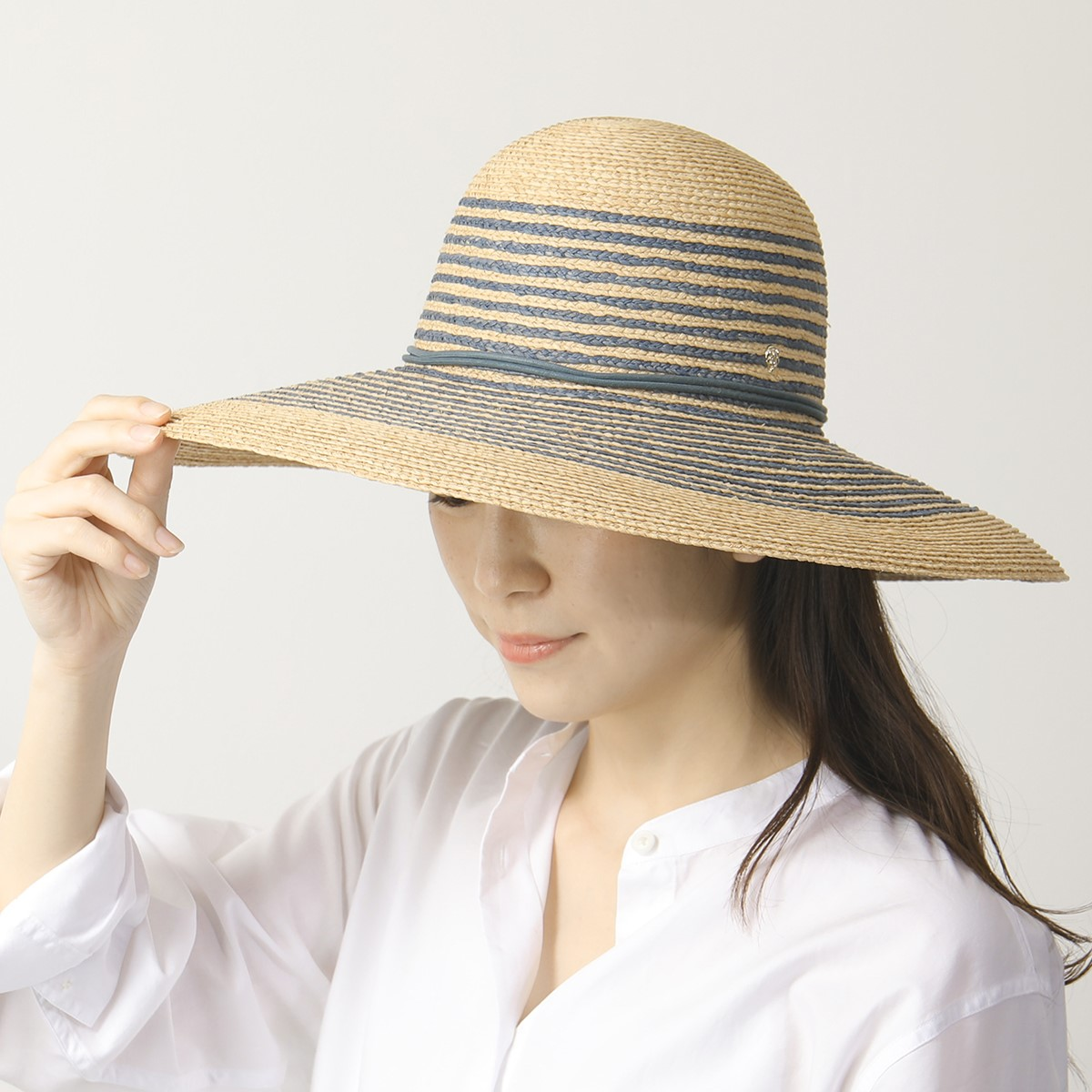 HELEN KAMINSKI ヘレンカミンスキー Tallulah ラフィア ハット ラウンドクラウンハット 帽子 ツバ広 Natural/MistyLake レディース