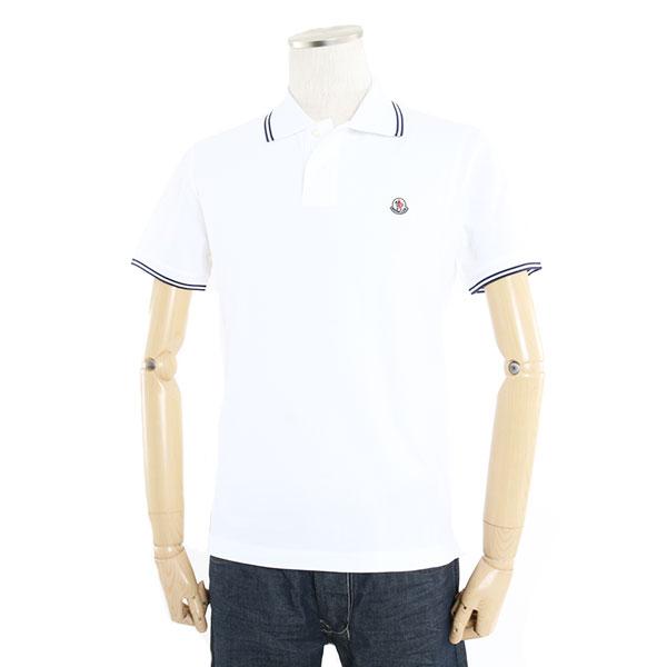 MONCLER モンクレール 8304300 84556 鹿の子 半袖 ポロシャツ ロゴワッペン カラー001/ホワイト メンズ