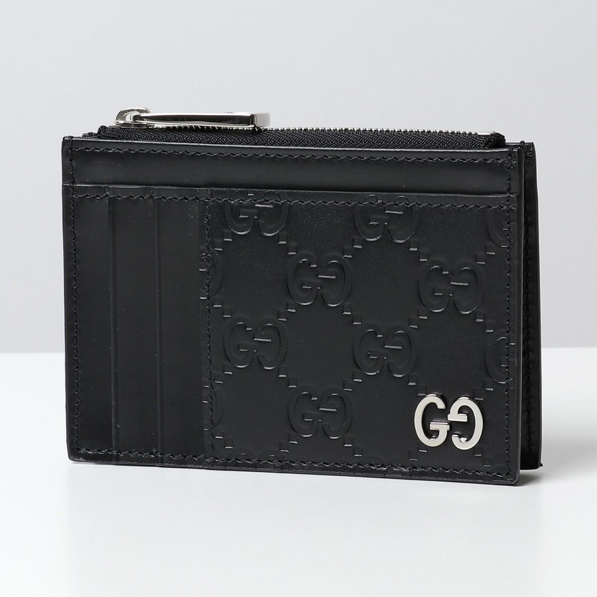 GUCCI グッチ 597560 CWC1N シグネチャー レザー カードケース コインケース GGスプリーム パスケース 1000 メンズ