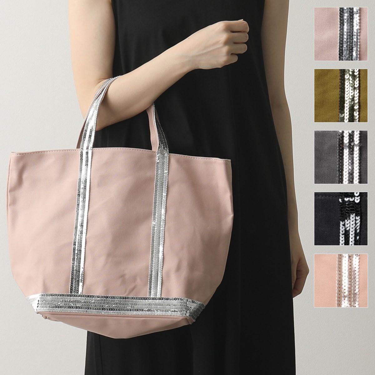 vanessabruno ヴァネッサブリューノ 0PVE01 V40413 CABAS MOYEN カラー4色 A4サイズ キャンバス スパンコール装飾 トートバッグM 鞄 レディース