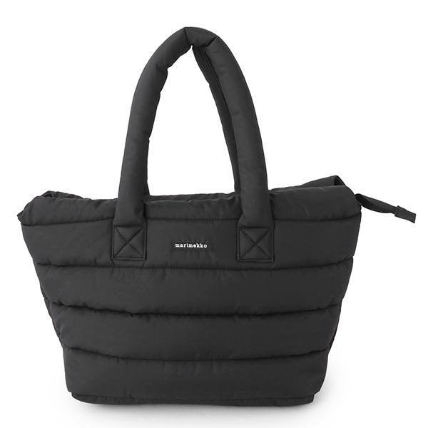 marimekko マリメッコ PADDED BAGS 045492 MILLA Olkalaukku 中綿キルティング ナイロン トートバッグ ハンドバッグ カラー009/ブラック