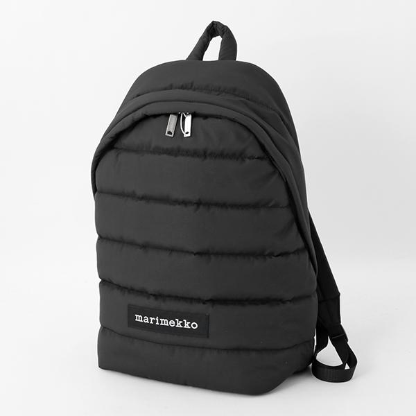 marimekko マリメッコ PADDED BAGS 045486 LOLLY Reppu 中綿キルティング ナイロン バックパック リュック デイパック カラー009/ブラック