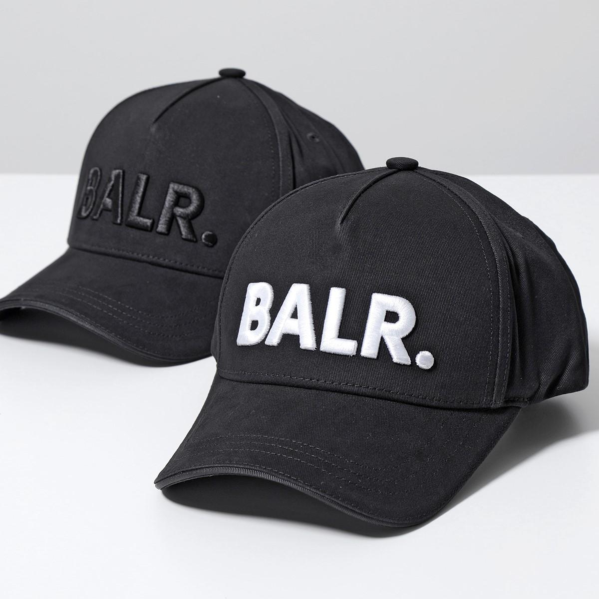 BALR. 買い物 ボーラー Classic Cotton 供え Cap B10015 コットン ベースボールキャップ Black 立体ロゴ刺繍 メンズ 帽子