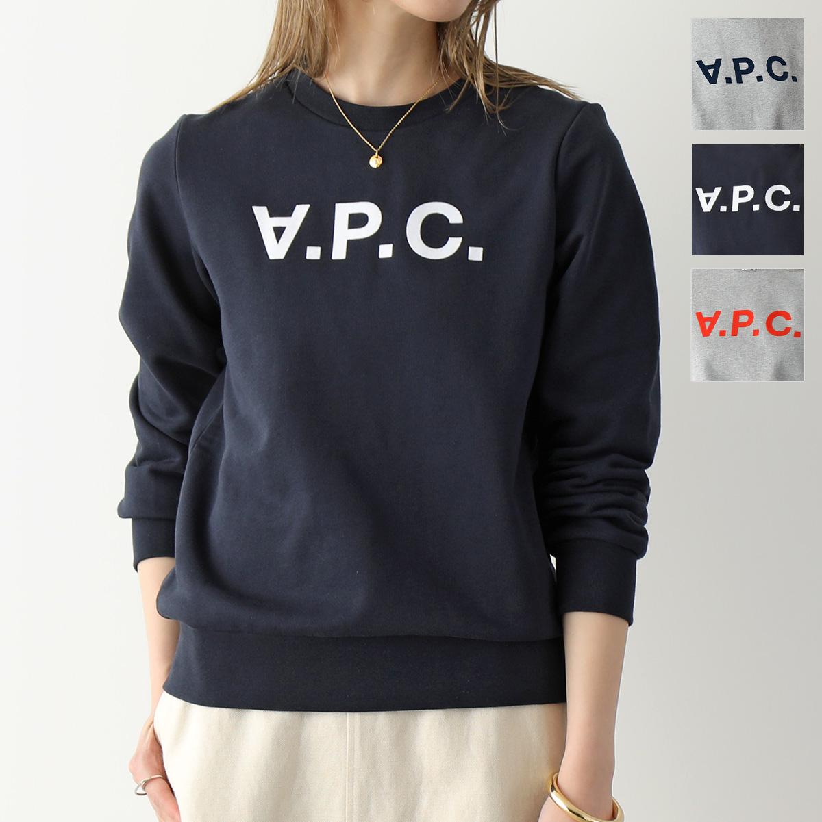 2021年秋冬新作 APC A.P.C. 店 最新 アーペーセー COECQ F27644 VIVA スウェット レディース GRIS-CHINE トレーナー PLA ロゴ 2021aw