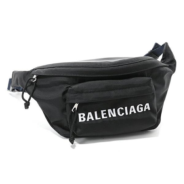 BALENCIAGA バレンシアガ 528862 9F91X WHEEL BELT PACK AJ ポーチ ポシェット ボディーバッグ カラー1090/ブラック ユニセックス