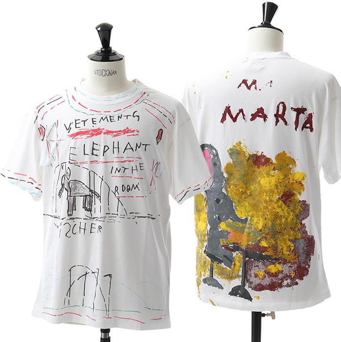 VETEMENTS ヴェトモン UAH19TR309 Elephant Marta T-shirt 半袖 Tシャツ カラーWHITE メンズ