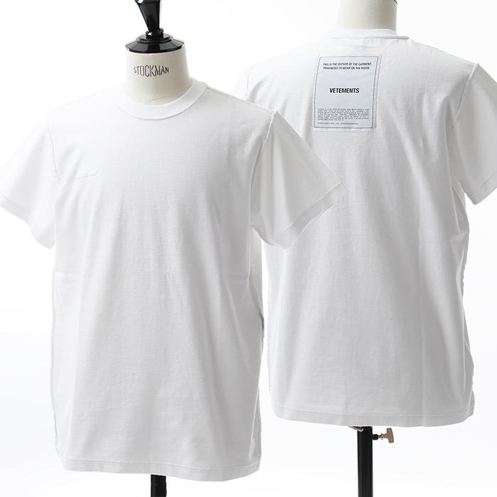 VETEMENTS ヴェトモン UAH19TR201 半袖 Tシャツ カラーWHITE メンズ