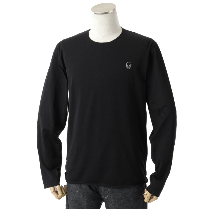 lucien pellat-finet ルシアンペラフィネ EVU 2051 長袖Tシャツ ストレッチ BLACK
