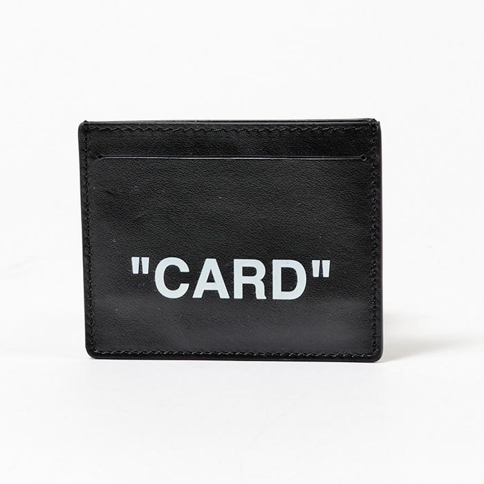 OFF-WHITE オフホワイト OMND005E18659010 QUOTE CARDHOLDER レザー カードケース 1001/ブラック メンズ