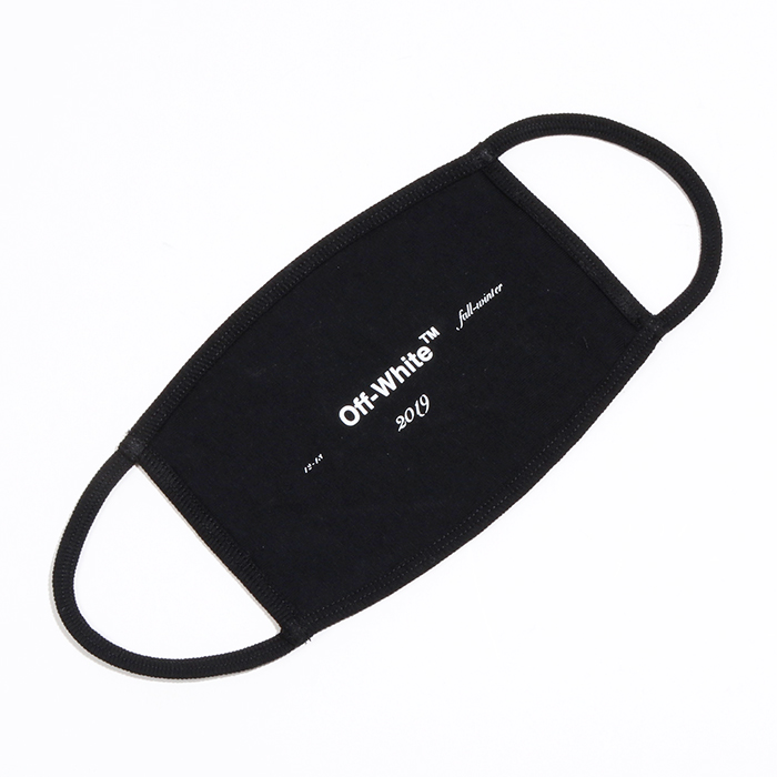OFF-WHITE オフホワイト OMRG001 F18 185019 SEASONAL LOGO MASK マスク 1001/ブラック メンズ