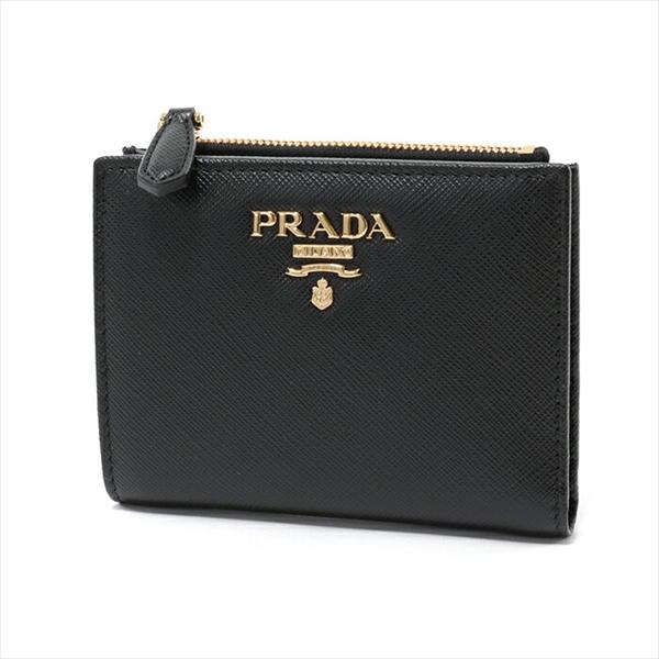 PRADA プラダ 1ML023 QWA F0002 二つ折り ミニ財布 NERO