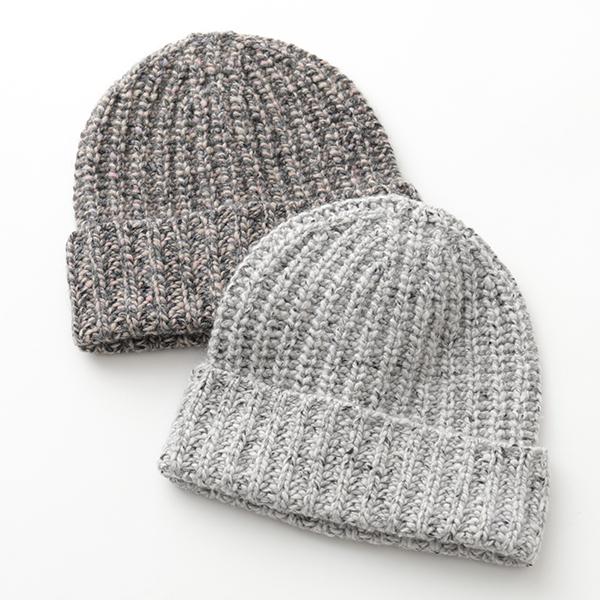 JOHNSTONS ジョンストンズ HAC2454 カシミヤ ニット帽 ニットキャップ リブ 帽子 ミックス編み カラー3色