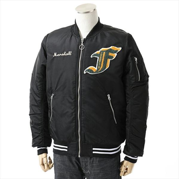FRANKLIN&MARSHALL フランクリン&マーシャル JKMF418ANW18 MA-1 中綿ジャケット BLACK