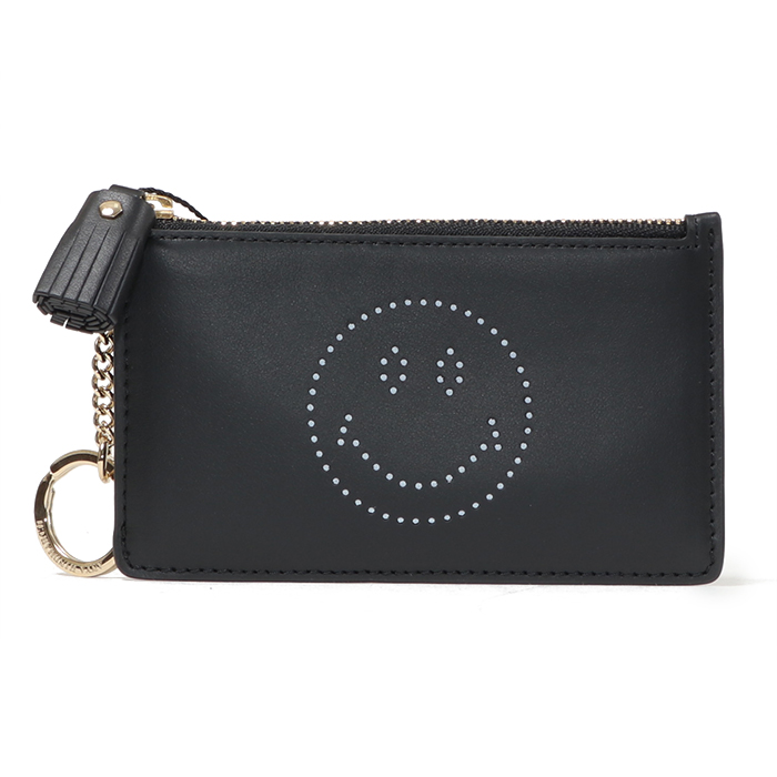 ANYA HINDMARCH アニヤハインドマーチ 5050925957779 Ziped Card Key Case Smiley カードケース スマイリー BlackCircus