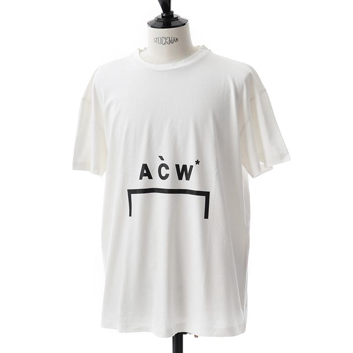 A-Cold-Wall* アコールドウォール CW8FMH05NP TE187 半袖Tシャツ ロゴT 001/WHITE