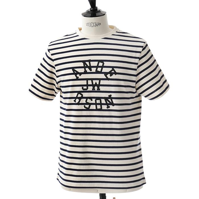 JW ANDERSON ジェイダブリューアンダーソン JE02418F 半袖Tシャツ ボーダー柄 OFFWHITE