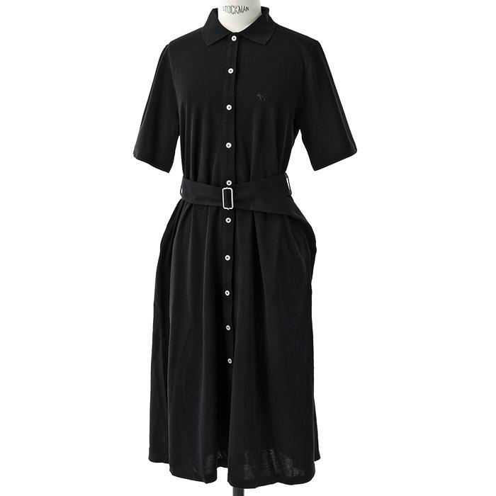 MAISON KITSUNE メゾンキツネ BW01620BT1505 POLO DRESS ポロカラー ワンピース BLACK/ブラック レディース