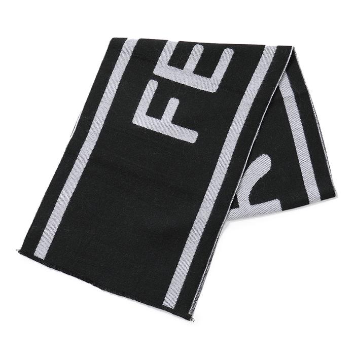 最上の品質な FENDI フェンディ ロゴ FXS390 FENDI A4Z2 ウールマフラー ストール ストール ロゴ F0ZE7/ブラック, ヨシダチョウ:87d141ce --- bibliahebraica.com.br