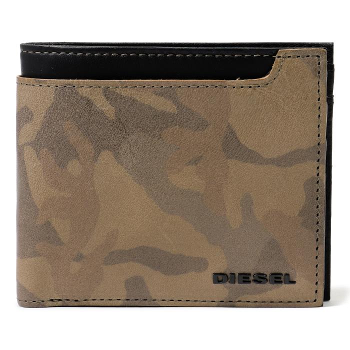 DIESEL ディーゼル X05832 PS998 HIRESH S 迷彩柄 二つ折り財布 H4185