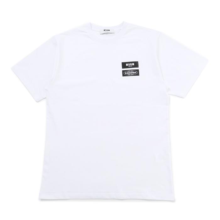 MSGM エムエスジーエム EASTPAK イーストパック MM200 コラボ 半袖Tシャツ オーバーサイズ 01 メンズ