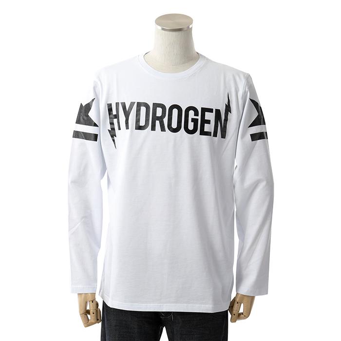 HYDROGEN ハイドロゲン 230055 クルーネック 長袖Tシャツ 001