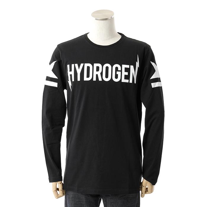 HYDROGEN ハイドロゲン 230055 クルーネック 長袖Tシャツ 007