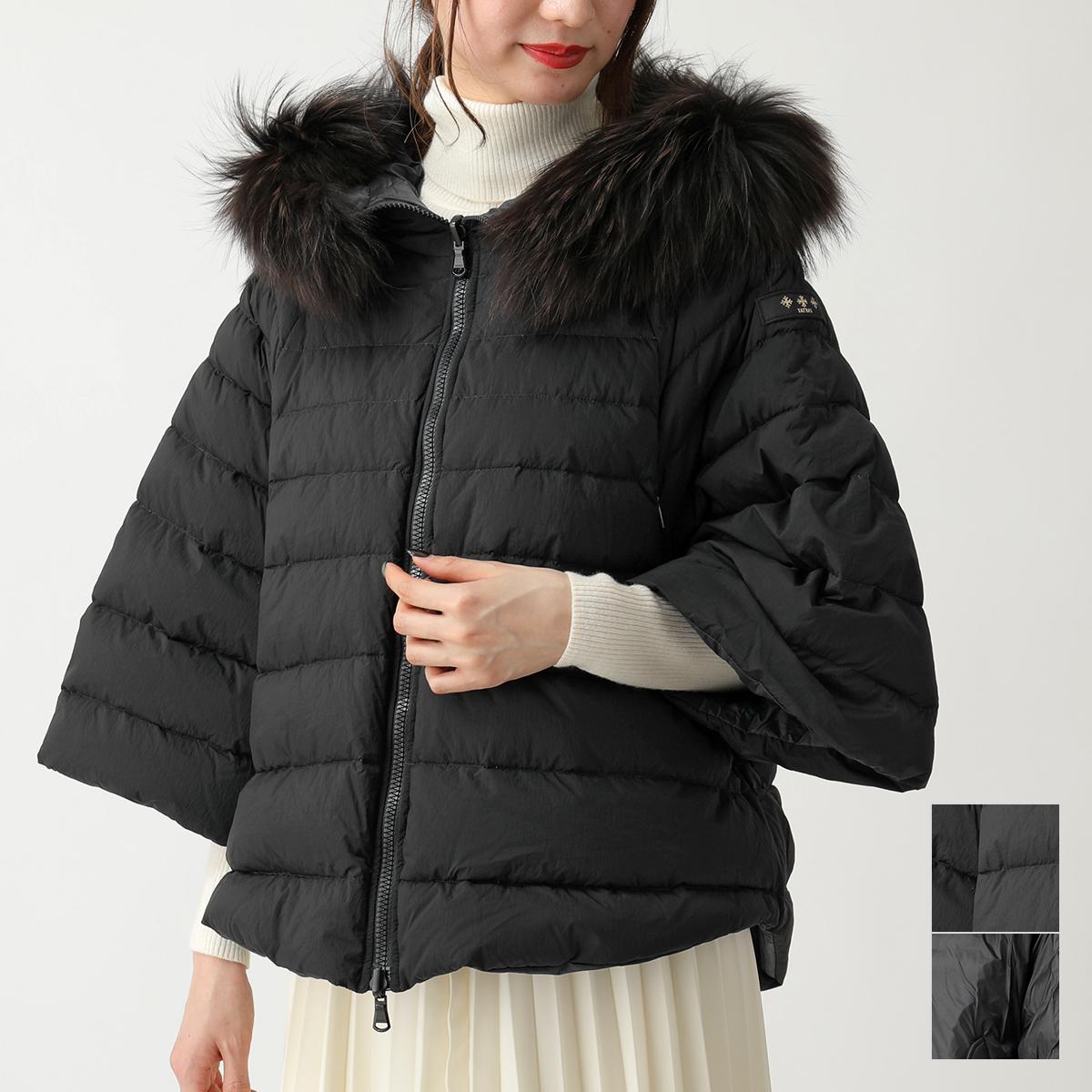 TATRAS タトラス LTA19A4692 MALE ラクーンファー装飾 リバーシブルダウンジャケット BLACK