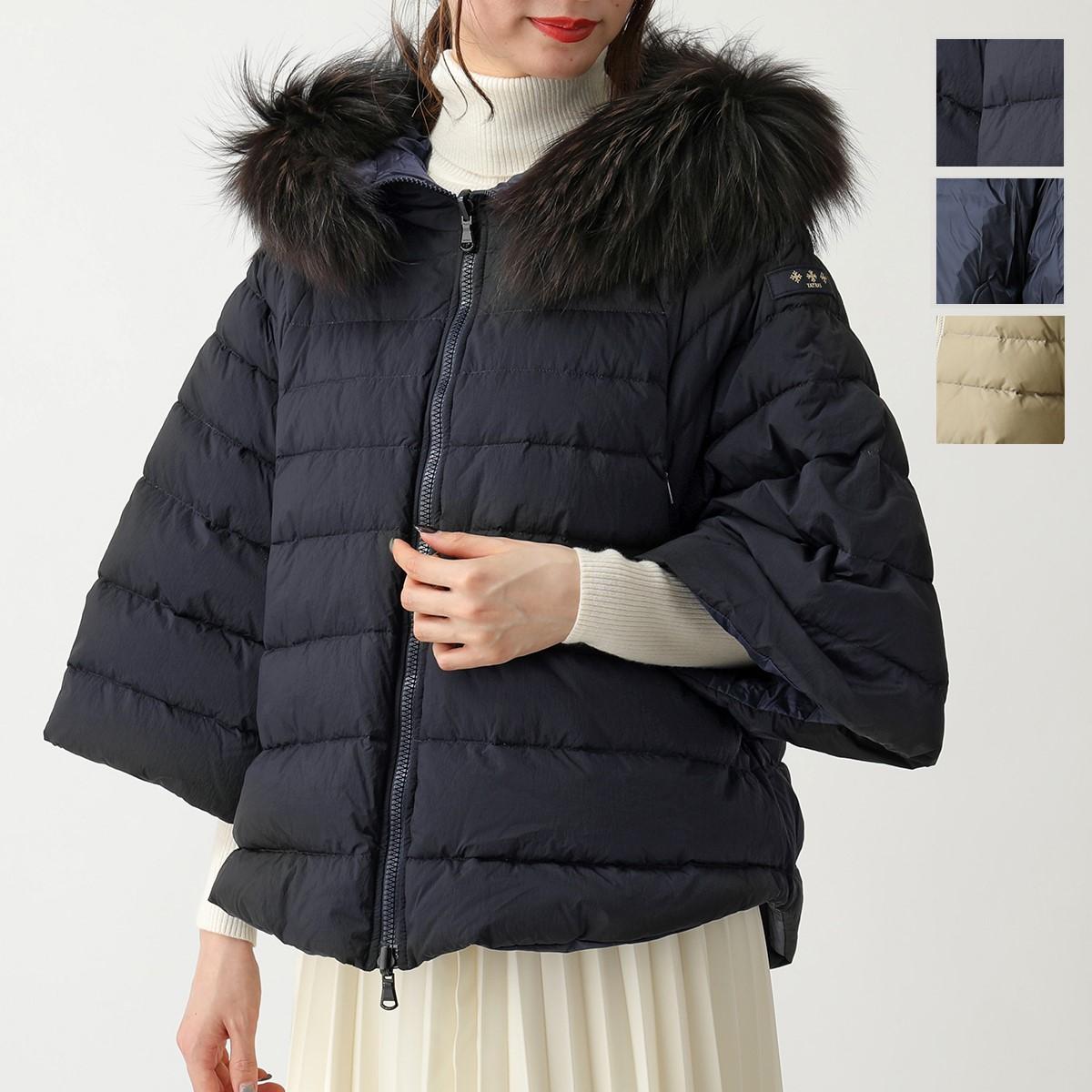 TATRAS タトラス LTA19A4692 MALE ラクーンファー装飾 リバーシブルダウンジャケット NAVY