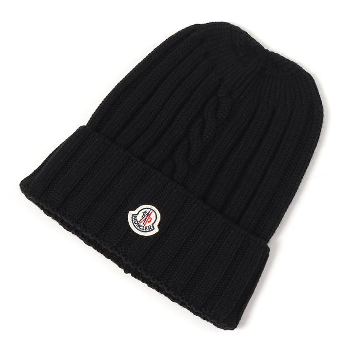 MONCLER モンクレール 9961300 979C2 ニットキャップ 帽子 999/BLACK