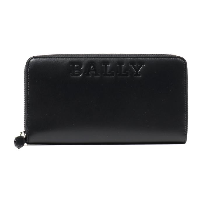 BALLY バリーBALEN BOLD プレーンカーフレザー トラベルウォレット ラウンドジップ 長財布 00/ブラック メンズ