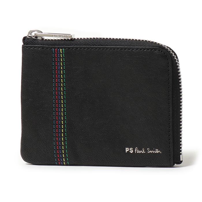 Paul Smith ポールスミス 5318 APSSTI レザー L字 ジップ コインケース 小銭入れ 79/ブラック メンズ