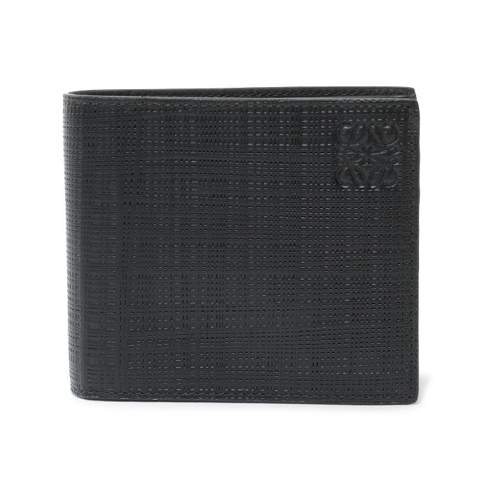 LOEWE ロエベ 101 88 M77 6 CARDS BIFOLD 6 カード バイフォルド レザー 二つ折り財布 1100/ブラック ユニセックス