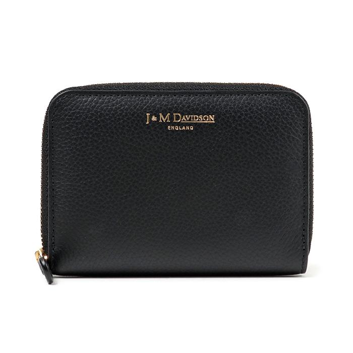 J&M DAVIDSON ジェイアンドエム デヴィッドソン 5259 7470 レザー カードケース ミニ財布 豆財布 9990/black レディース