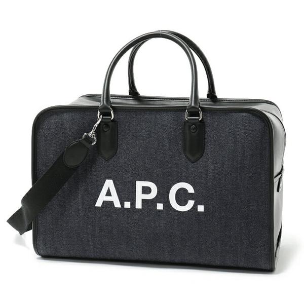 APC A.P.C. アーペーセー COCSU H61292 sac paul LZZ デニム 2way ボストンバッグ NOIR ユニセックス メンズ