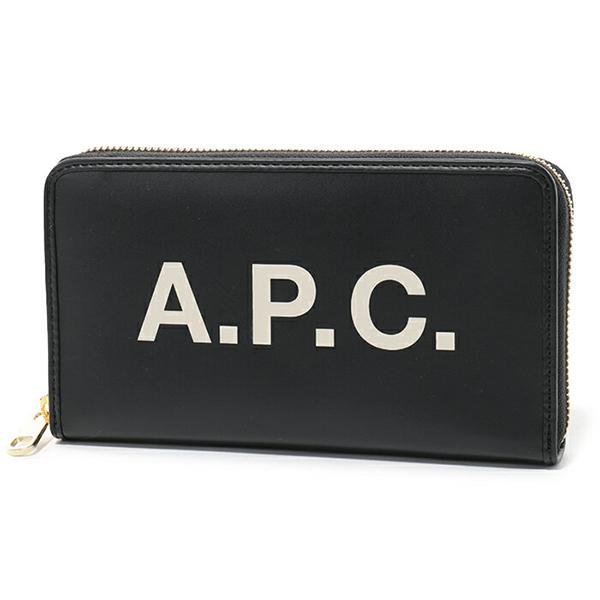 APC A.P.C. アーペーセー PUAAJ F63226 portefeullle morgane LZZ ラウンドファスナー長財布 NOIR ユニセックス レディース