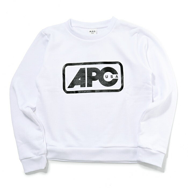 APC A.P.C. アーペーセー COCQY F27480 sweat bernadette AAB クルーネック スウェットシャツ BLANC レディース
