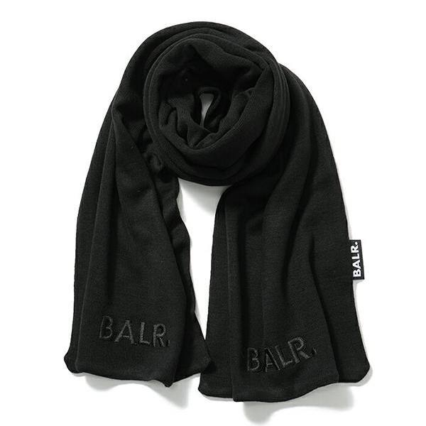 新品本物 BALR. BALR. メンズ ボーラー Embroidered Embroidered Scarf ニットマフラー ストール Black メンズ, 松波動物メディカル通信販売部:38c6b007 --- canoncity.azurewebsites.net