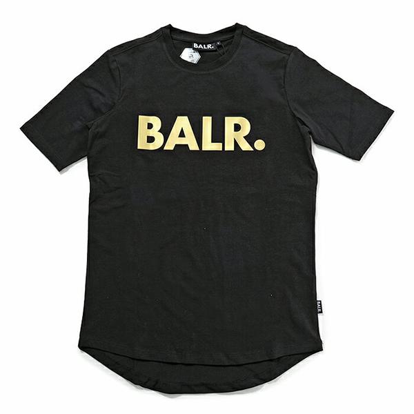 BALR. ボーラー Brand Shirt クルーネック 半袖Tシャツ ストレッチ BlackGold メンズ