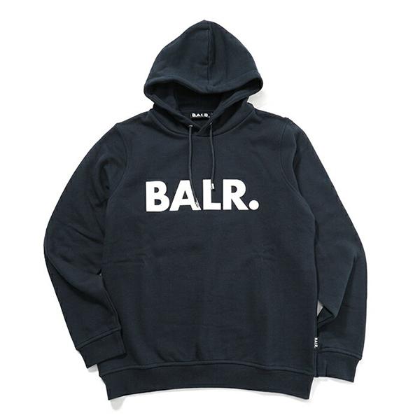 BALR. ボーラー Brand Hoodie プルオーバー スウェットパーカー NavyBlue メンズ