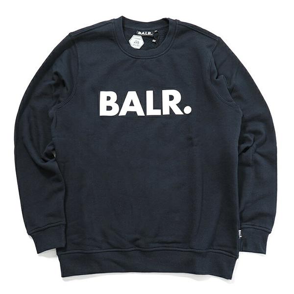 BALR. ボーラー Brand Crew Neck Sweater 長袖 クルーネック スウェット NavyBlue メンズ