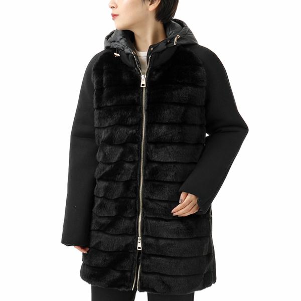 JAN MAYEN ヤンマイエン ANIGTON IKG ファー装飾 ダウンジャケット NERO レディース