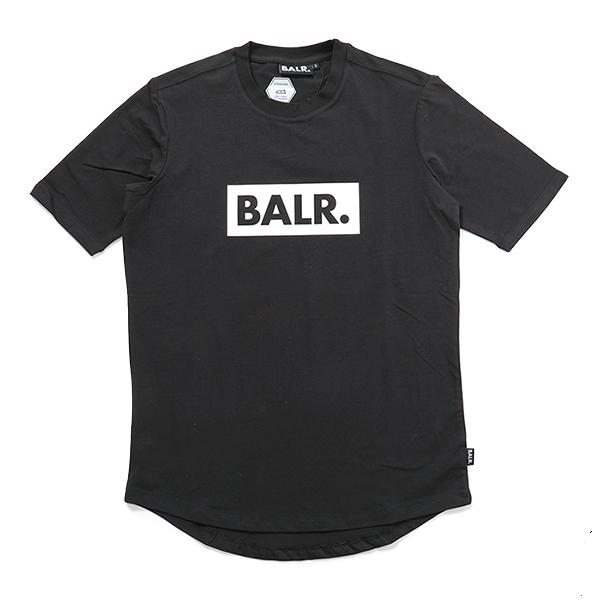 BALR. ボーラー Club Shirt クルーネック 半袖Tシャツ ストレッチ Black メンズ
