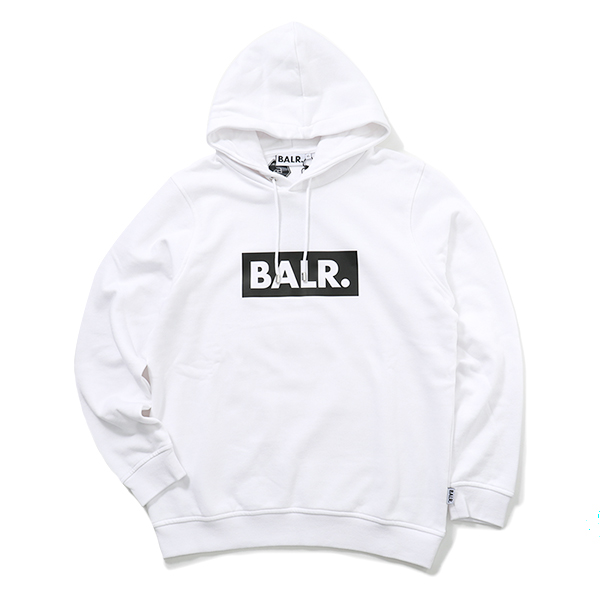 BALR. ボーラー Club Hoodie プルオーバーパーカー ストレッチ White メンズ