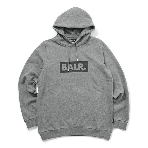 BALR. ボーラー Club Hoodie プルオーバーパーカー ストレッチ Grey メンズ