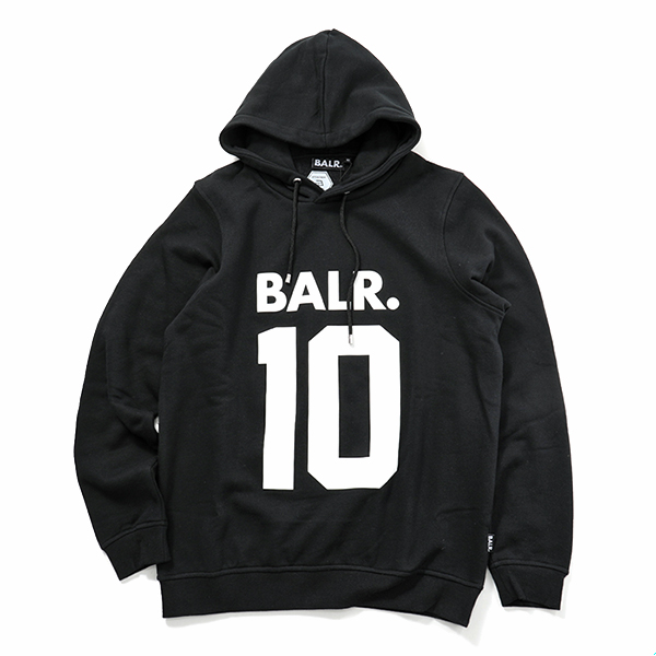 BALR. ボーラー BALR. 10 Hoodie プルオーバー スウェットパーカー Black メンズ