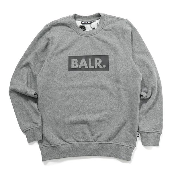 BALR. ボーラー Club Crew Neck Sweater 長袖 クルーネック スウェット ボックスロゴ Grey メンズ